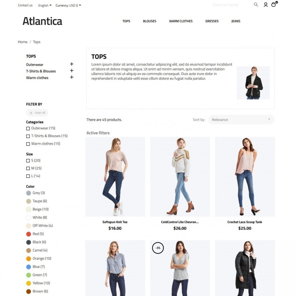 theme - Fashion & Shoes - Atlantica Fashion Store - 5