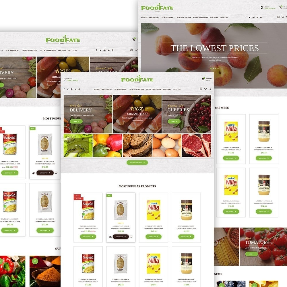 theme - Alimentos & Restaurantes - FoodFate - Food Store - 2