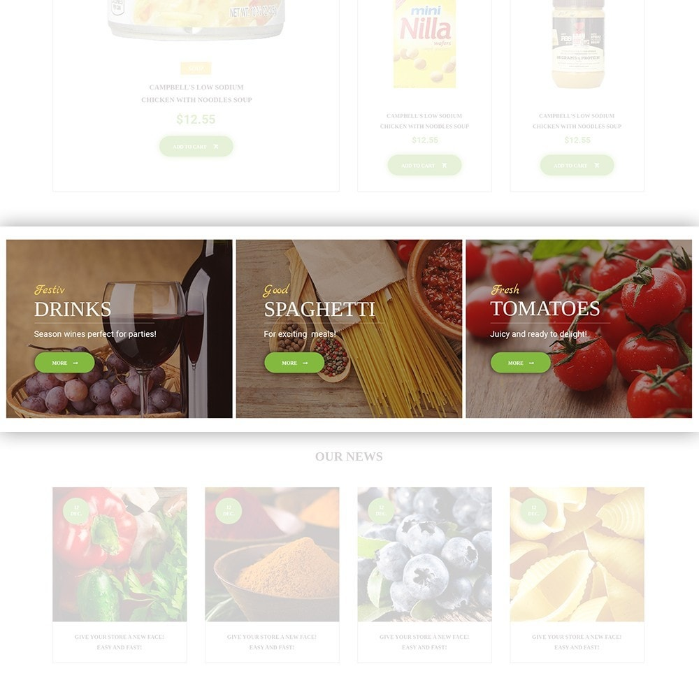 theme - Alimentation & Restauration - FoodFate - Magasin d'alimentation - 4