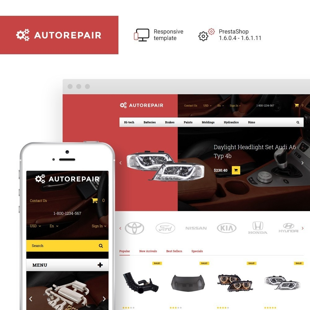 theme - Automotive & Cars - Autorepair - Car Parts - 1