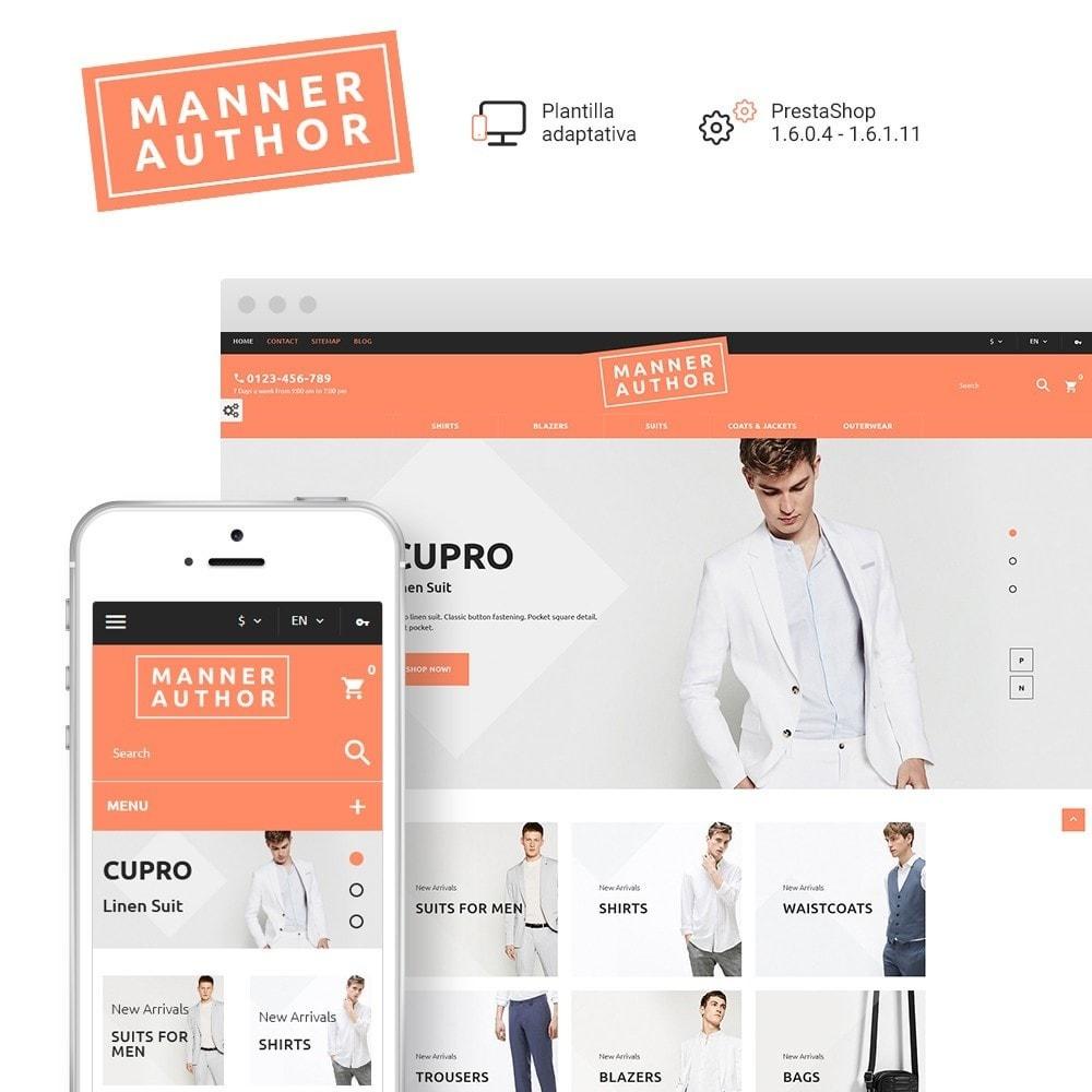 theme - Moda y Calzado - MannerAuthor - Sitio de Tienda de Ropa - 1