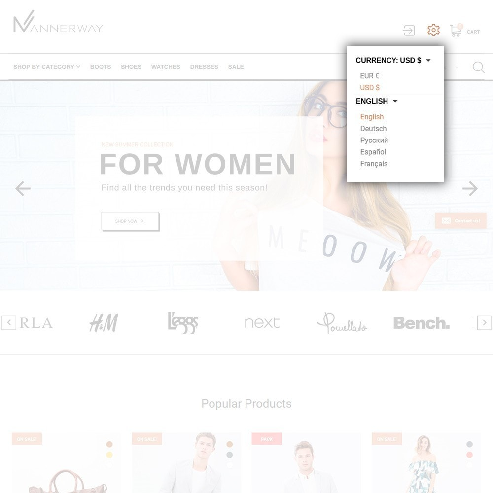 theme - Mode & Schuhe - Mannerway - Clothes & Accessories PrestaShop Theme - 6