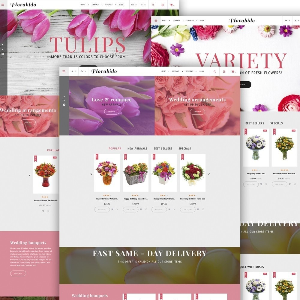 theme - Cadeaux, Fleurs et Fêtes - Florabido - Bouquets et arrangements floraux - 3