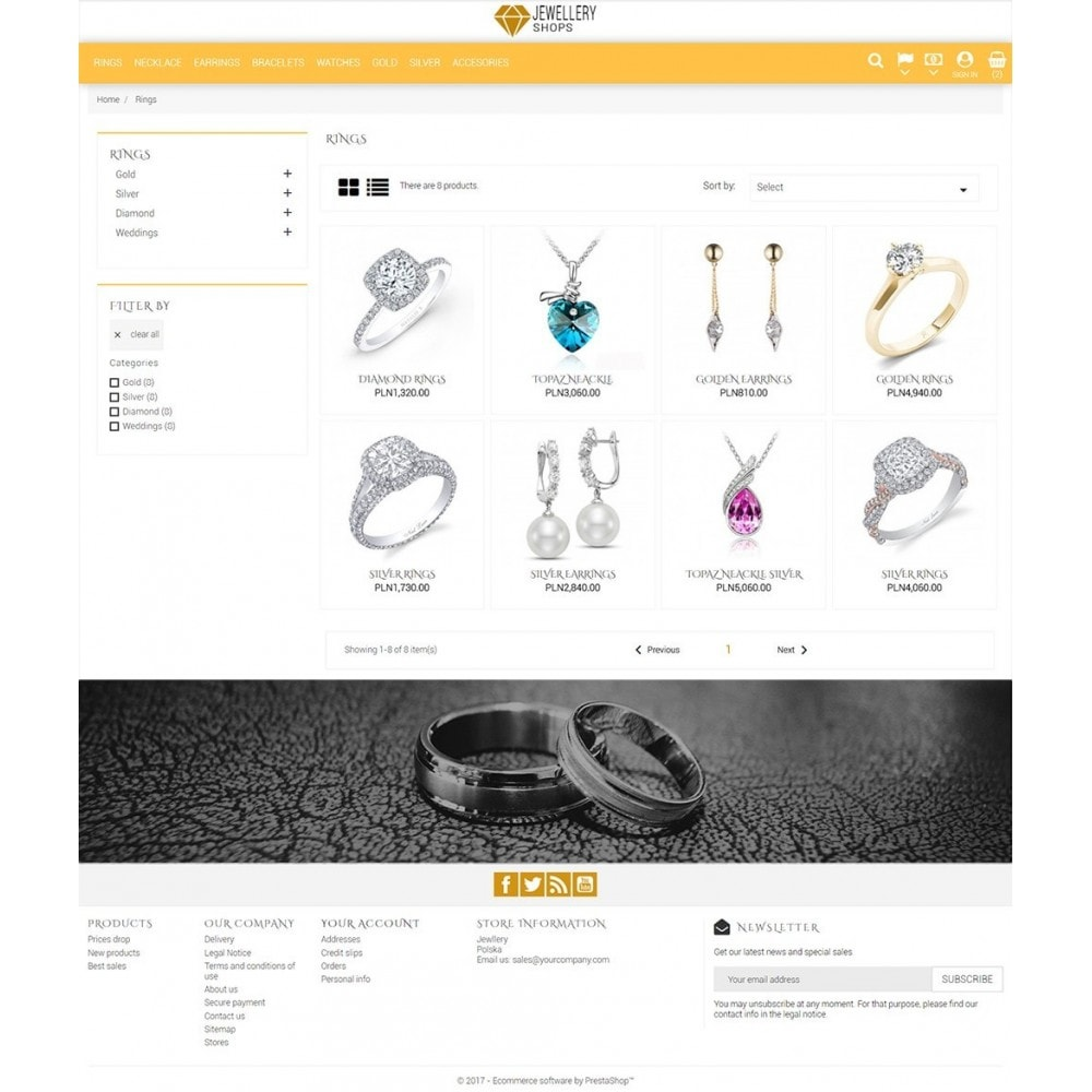 theme - Ювелирные изделия и Аксессуары - Jewellery Shop - 4