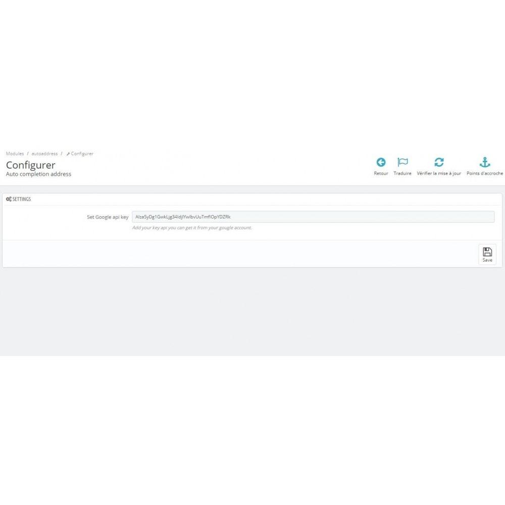 module - Inscription & Processus de commande - auto-complétion des adresses - 2