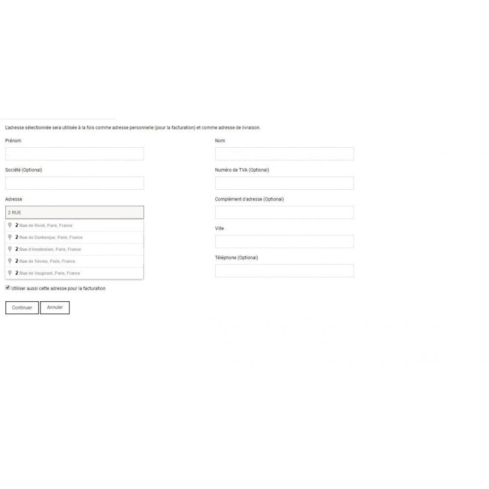 module - Inscription & Processus de commande - auto-complétion des adresses - 3