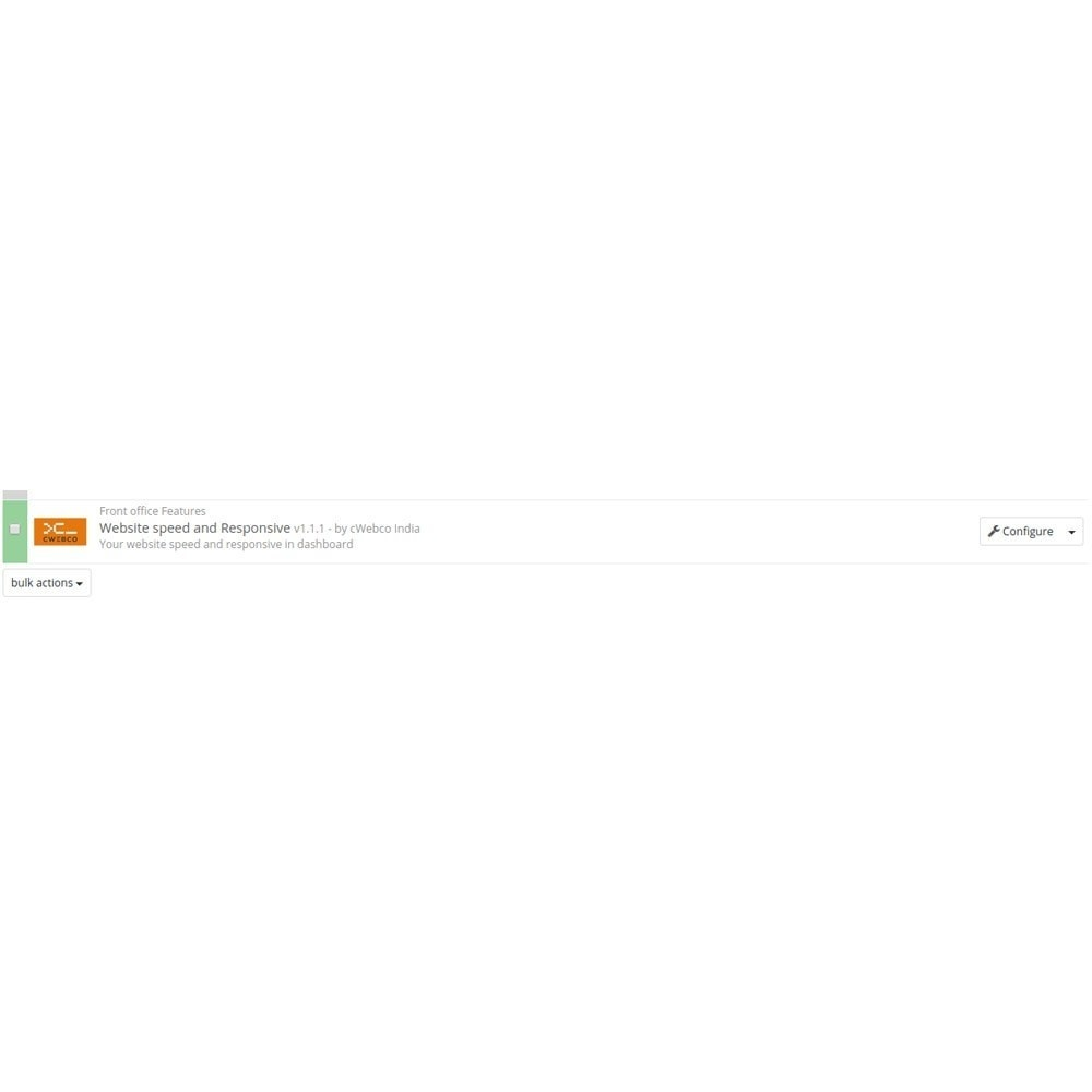 module - Performance du Site - Google Speed & Responsive Check Widgets - 1