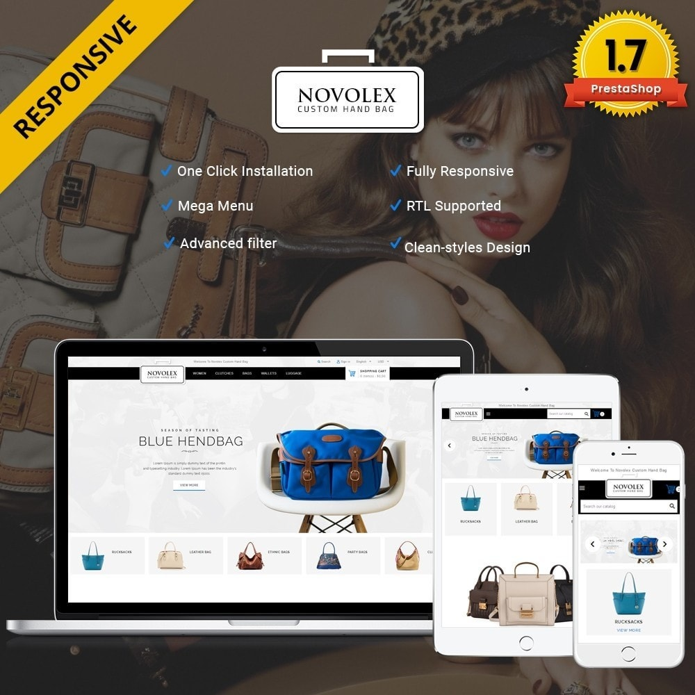 theme - Мода и обувь - Novolex Handbag Store - 1