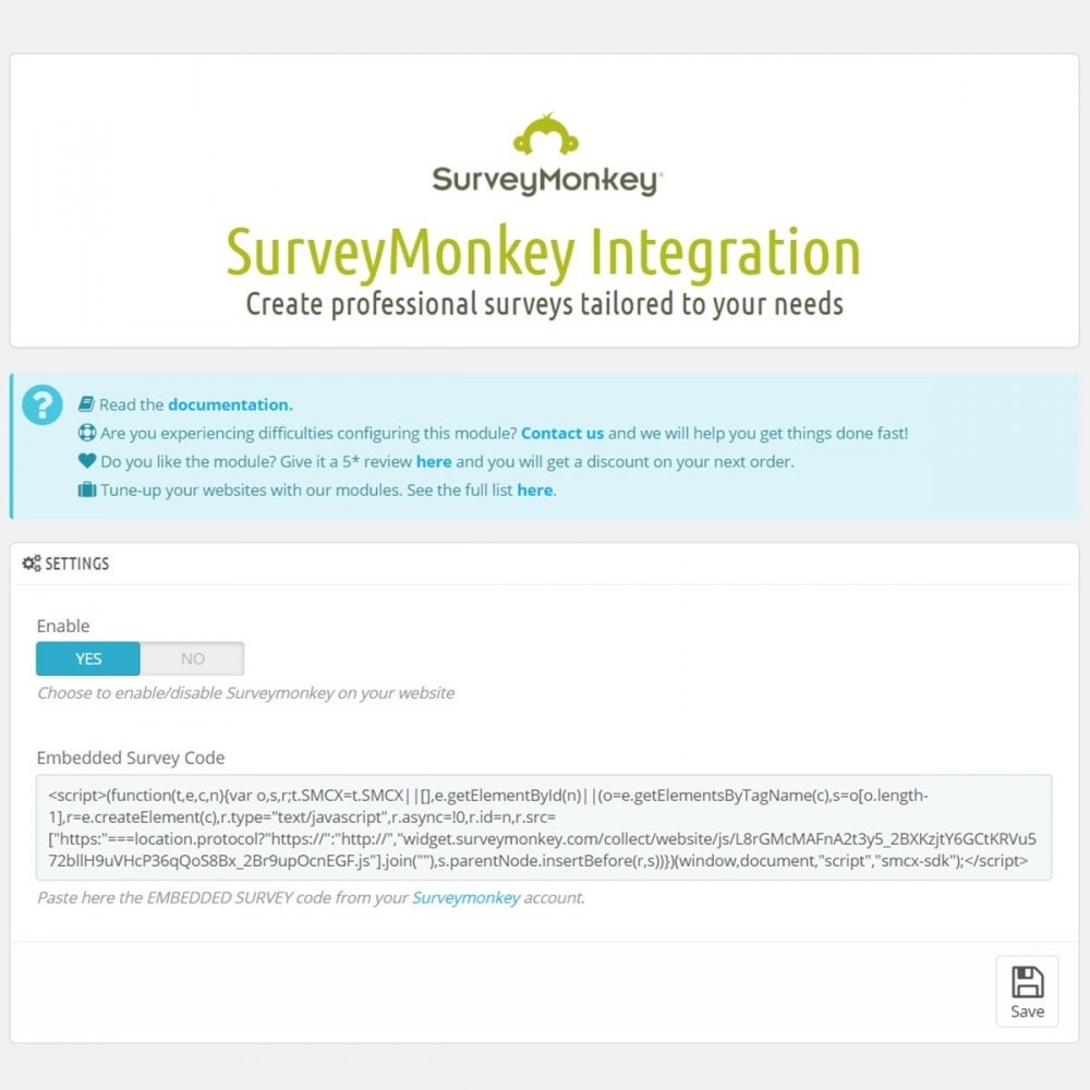 module - Contactformulier & Enquêtes - SurveyMonkey Integration - Professional surveys - 5