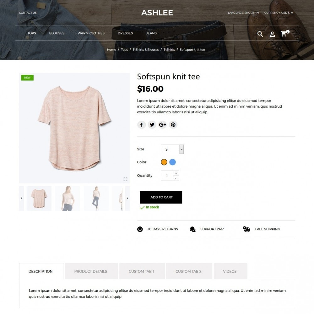 theme - Мода и обувь - Ashlee Fashion Store - 6