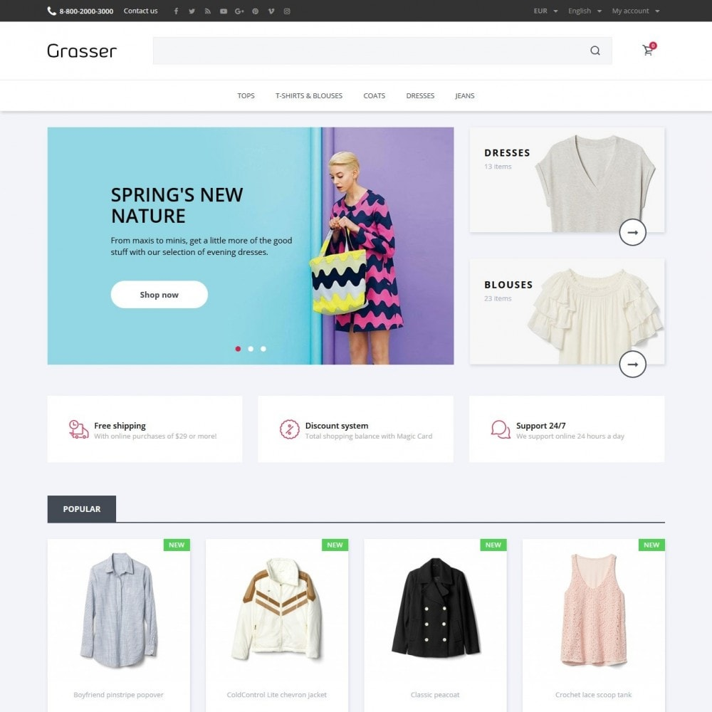 theme - Fashion & Shoes - Grasser Fashion Store - 2