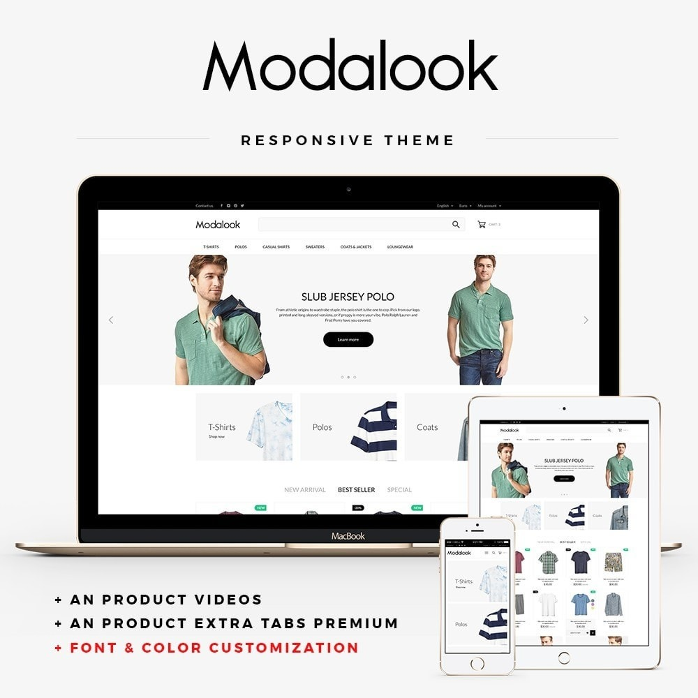 theme - Fashion & Shoes - Modalook Men's Wear - 1