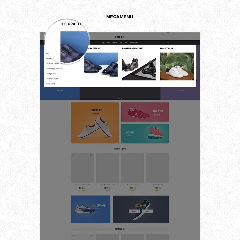 theme - Desporto, Actividades & Viagens - Fashion Sport Shoes Responsive Prestashop Theme 1.7 - 3