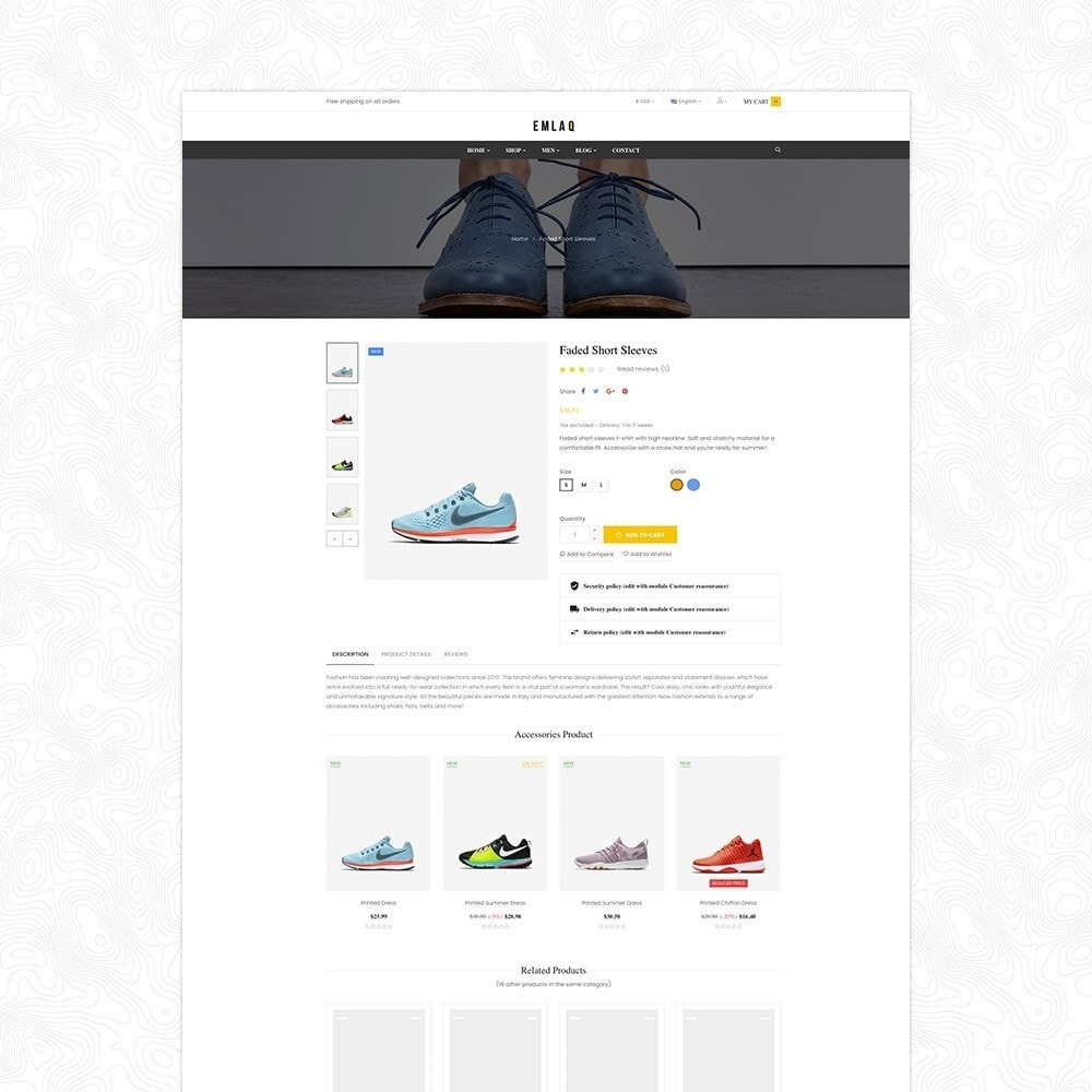 theme - Desporto, Actividades & Viagens - Fashion Sport Shoes Responsive Prestashop Theme 1.7 - 6