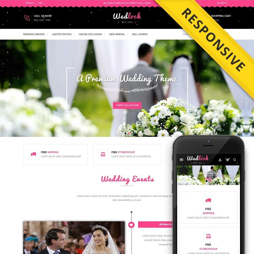 theme - Prezenty, Kwiaty & Uroczystości - Wedlock Wedding Store - 1
