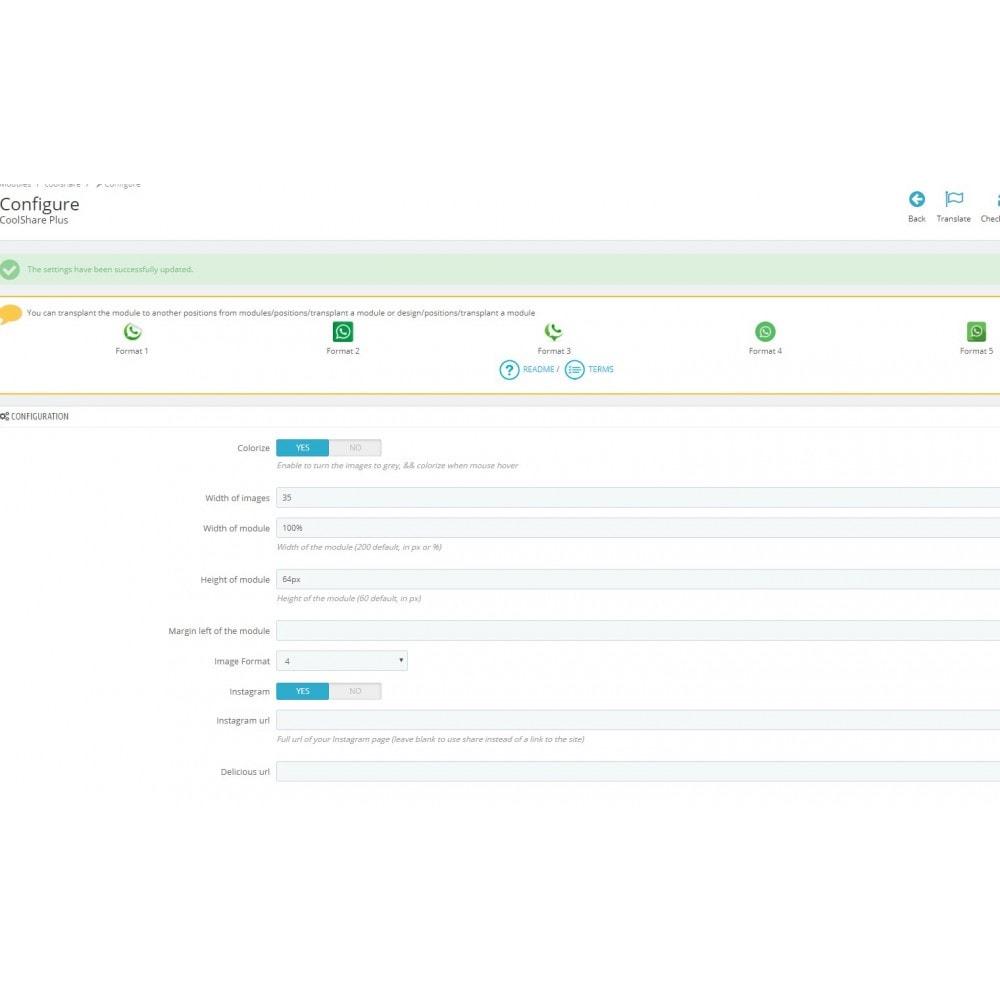 module - Compartir contenidos y Comentarios - CoolShare Plus Social networks - 5