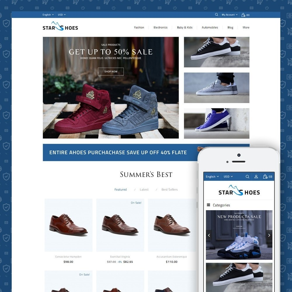 theme - Mode & Schuhe - Online Shoes Store - 1