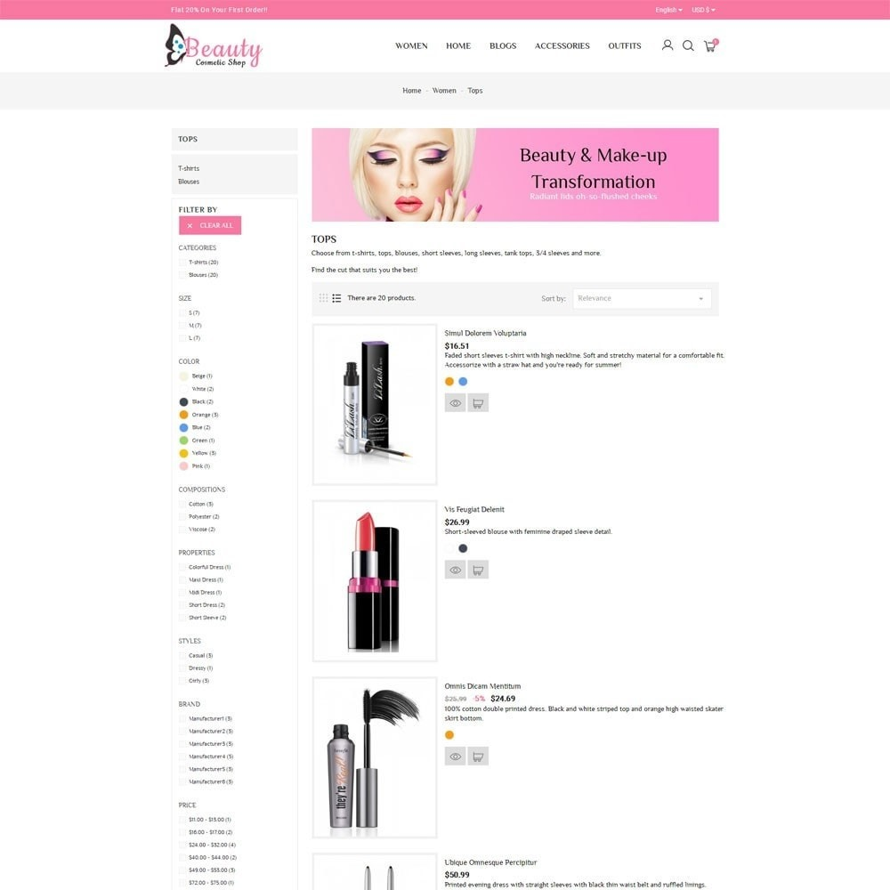 theme - Salud y Belleza - Beauty Cosmetic Shop - 6
