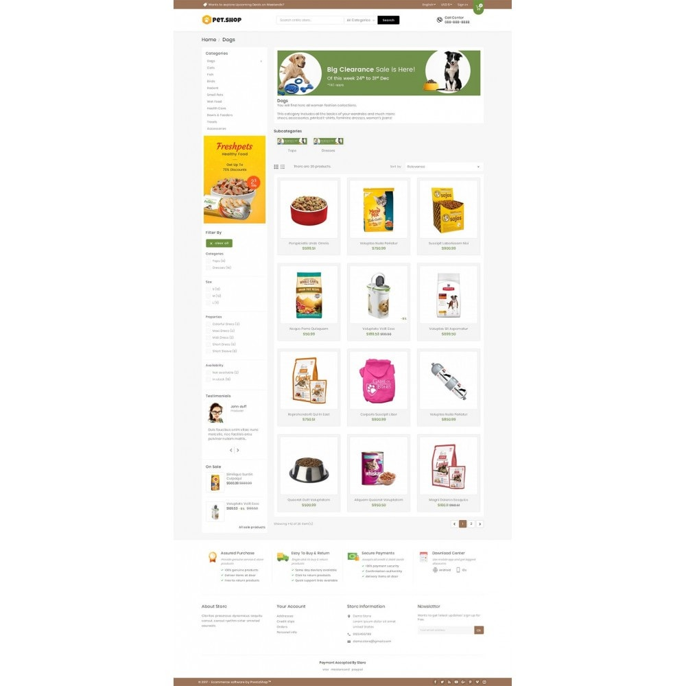 theme - Animais - Mega Pet Food - 3