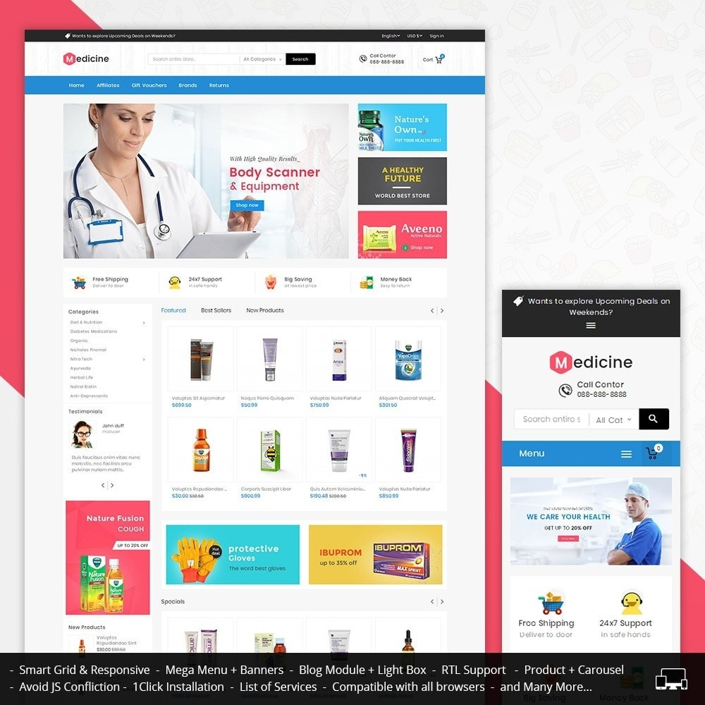 theme - Health & Beauty - Mega Medicine Store - 1