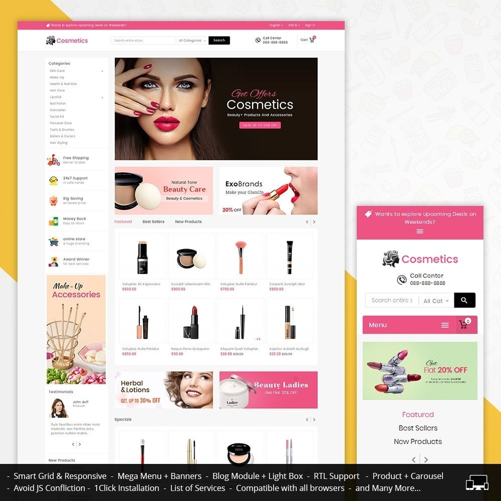 theme - Health & Beauty - Mega Cosmetics - 1