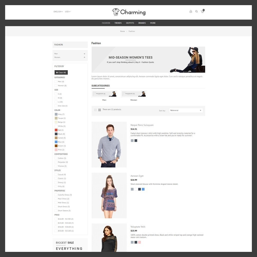 theme - Mode & Chaussures - Charming Fashion Store - 4