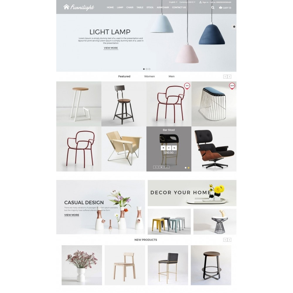 theme - Casa & Jardins - Furniture Light Store - 2