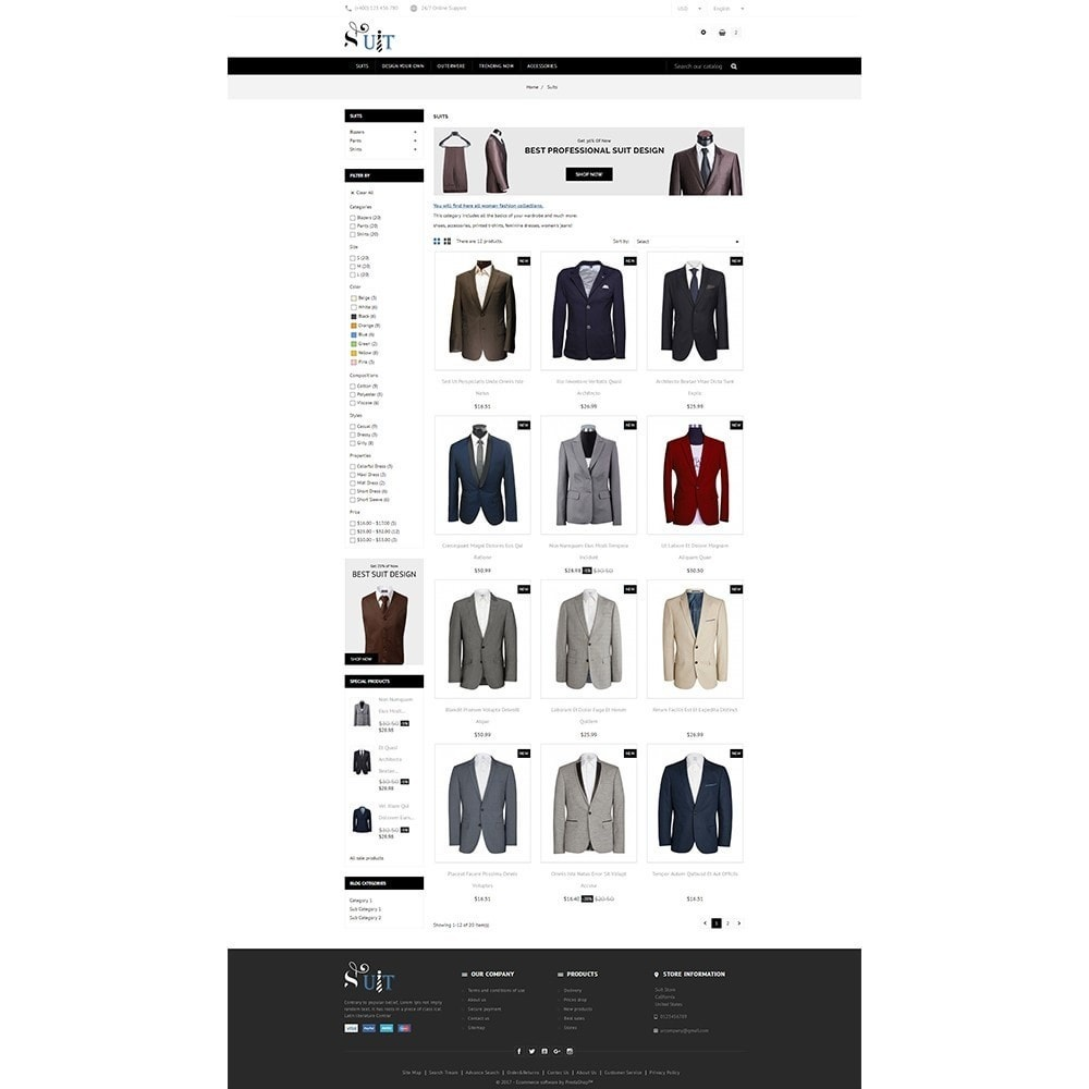 theme - Mode & Schoenen - Suit Store - 3