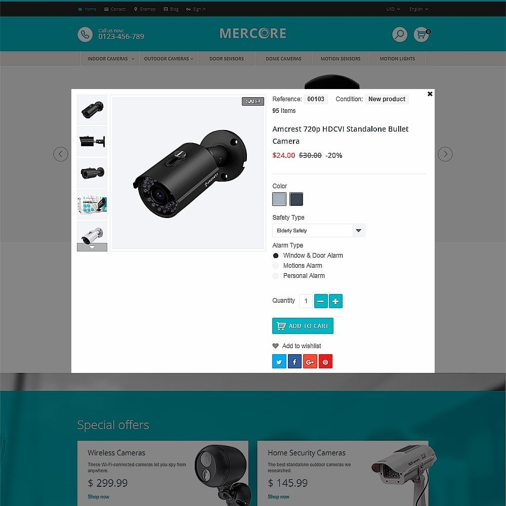 theme - Электроника и компьютеры - Mercore - шаблон по продаже средств безопасности - 4