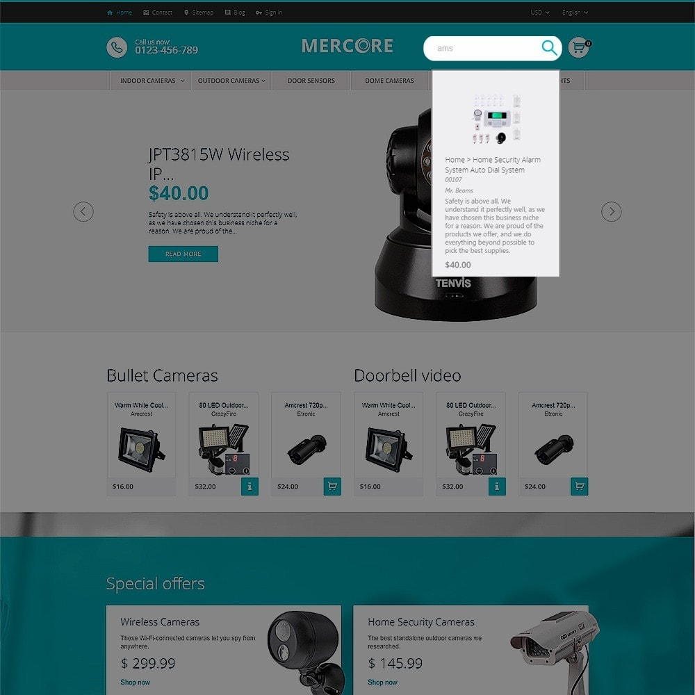 theme - Электроника и компьютеры - Mercore - шаблон по продаже средств безопасности - 6