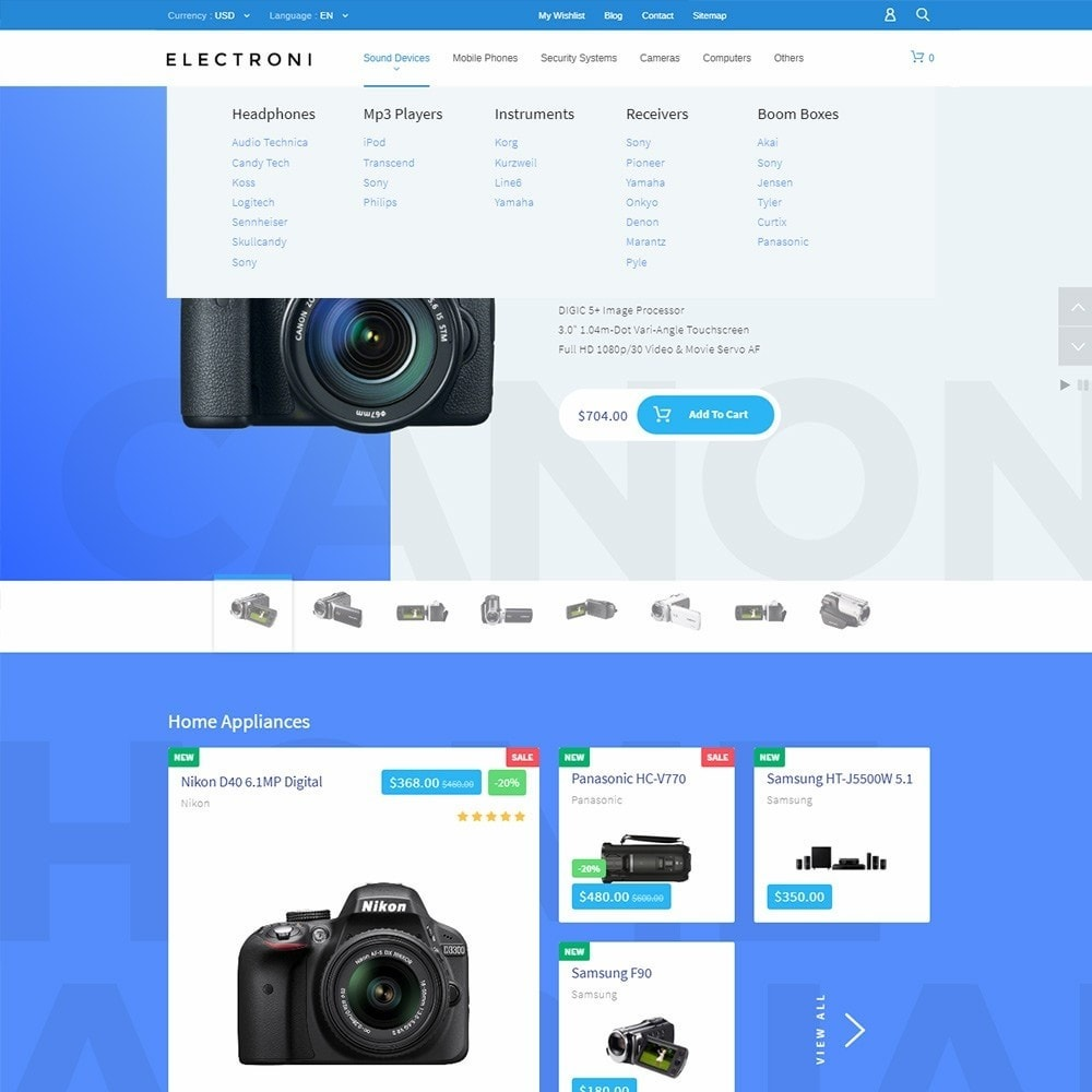 theme - Elektronik & High Tech - Electroni - Electronic Devices PrestaShop Theme - 6