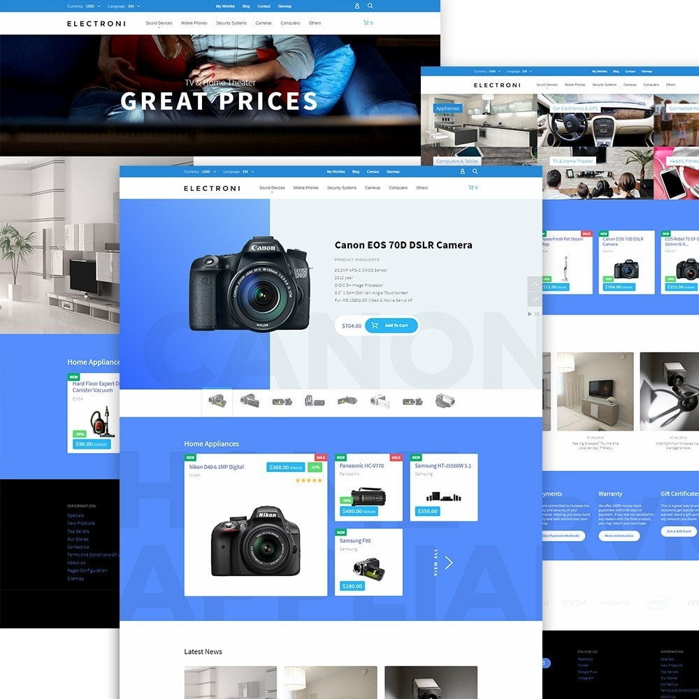 theme - Elettronica & High Tech - Tema PrestaShop Responsive - 2