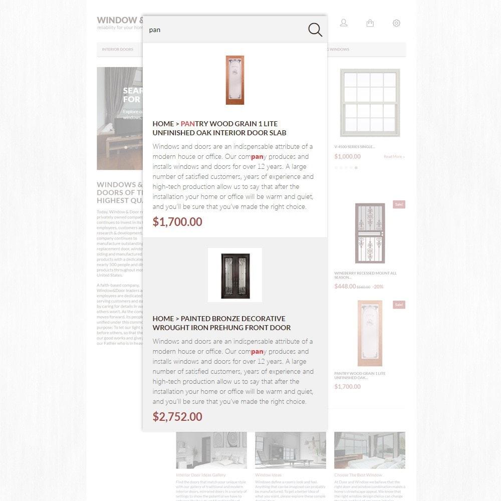 theme - Casa & Giardino - Modello PrestaShop Bootstrap per Un Sito di Finestre - 3