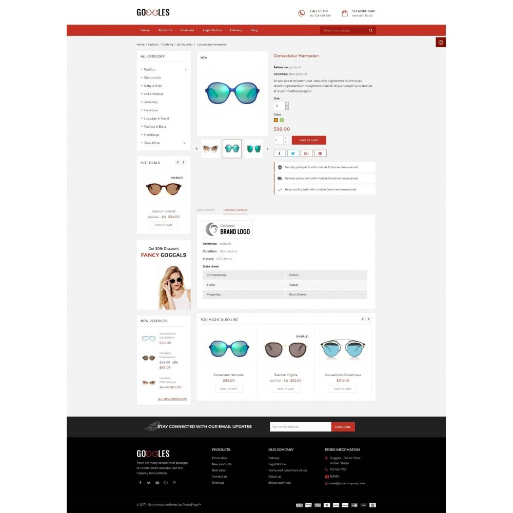 theme - Fashion & Shoes - Goggles Shop - 5