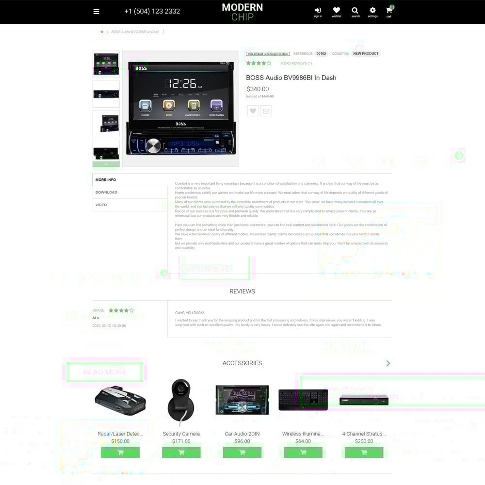 theme - Electronique & High Tech - Modern Chip thème PrestaShop adaptatif - 5