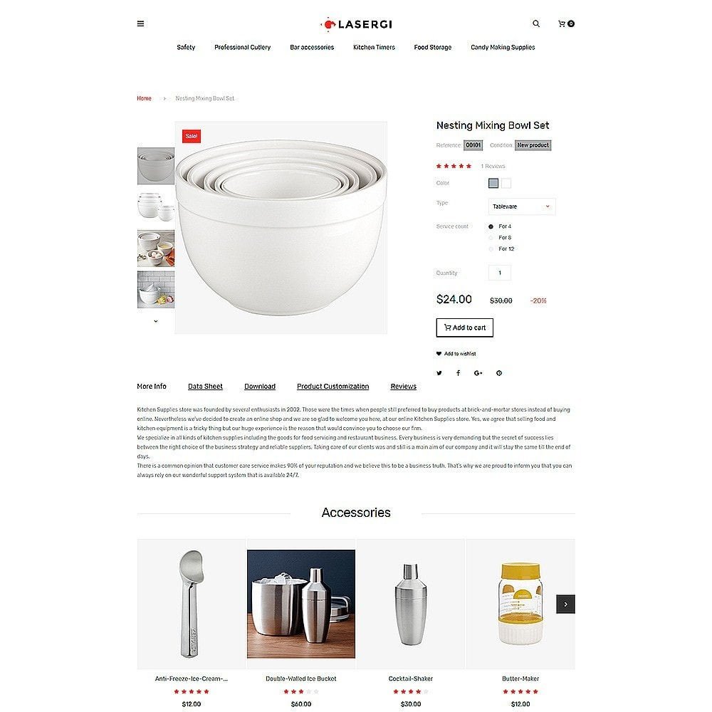 theme - Alimentos & Restaurantes - Glasergi - Cookware & Appliances PrestaShop Theme - 5