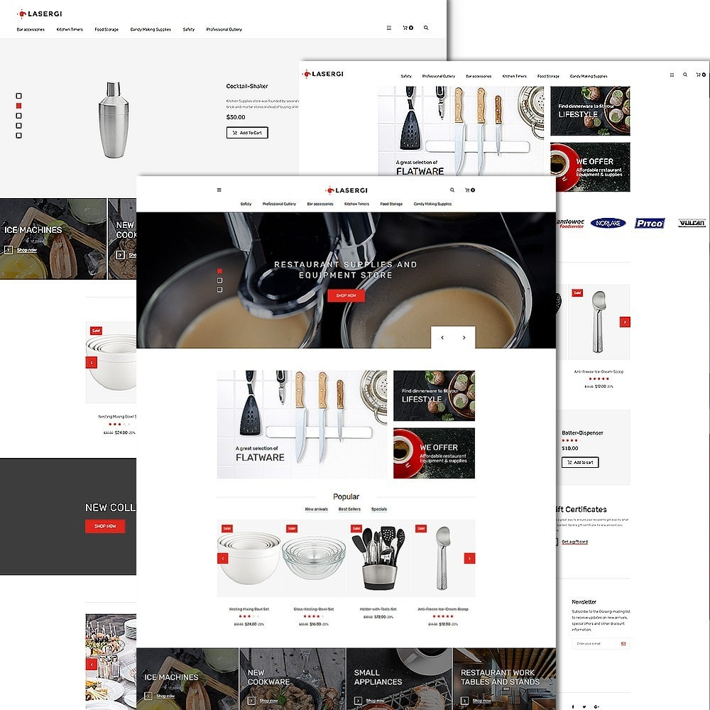 theme - Alimentation & Restauration - Glasergi - thème PrestaShop adaptatif - 2