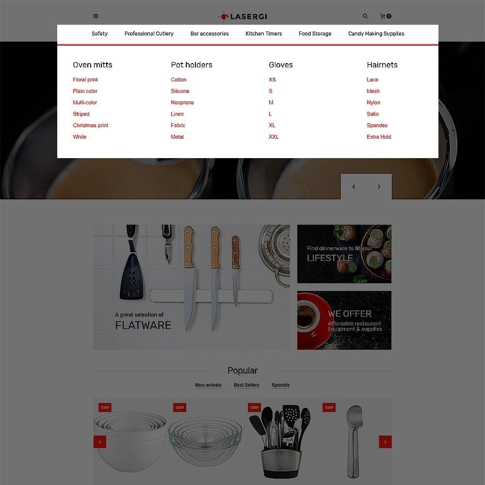 theme - Gastronomía y Restauración - Glasergi - para Sitio de Cafeterías y Restaurantes - 4