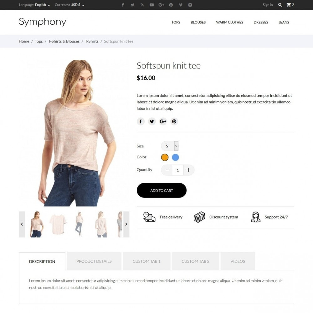 theme - Mode & Schoenen - Symphony - High-tech Shop - 6