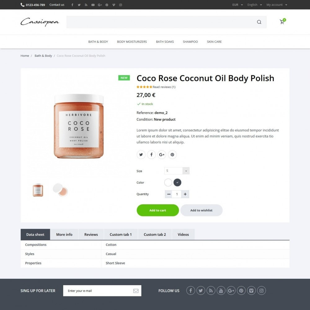 theme - Health & Beauty - Cassiopea Cosmetics - 6