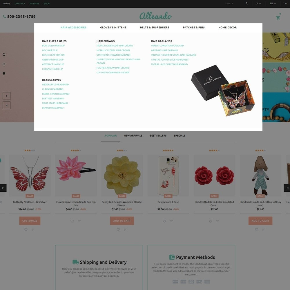 theme - Gifts, Flowers & Celebrations - Alleando - Decor Accessories PrestaShop Theme - 4