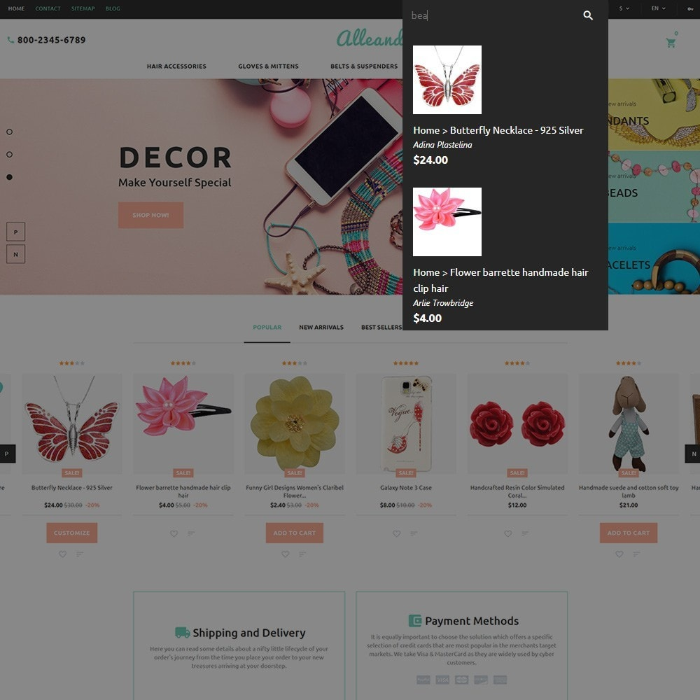 theme - Gifts, Flowers & Celebrations - Alleando - Decor Accessories PrestaShop Theme - 6