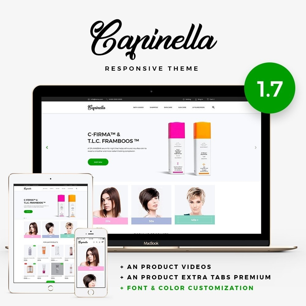 theme - Health & Beauty - Capinella Cosmetics - 1