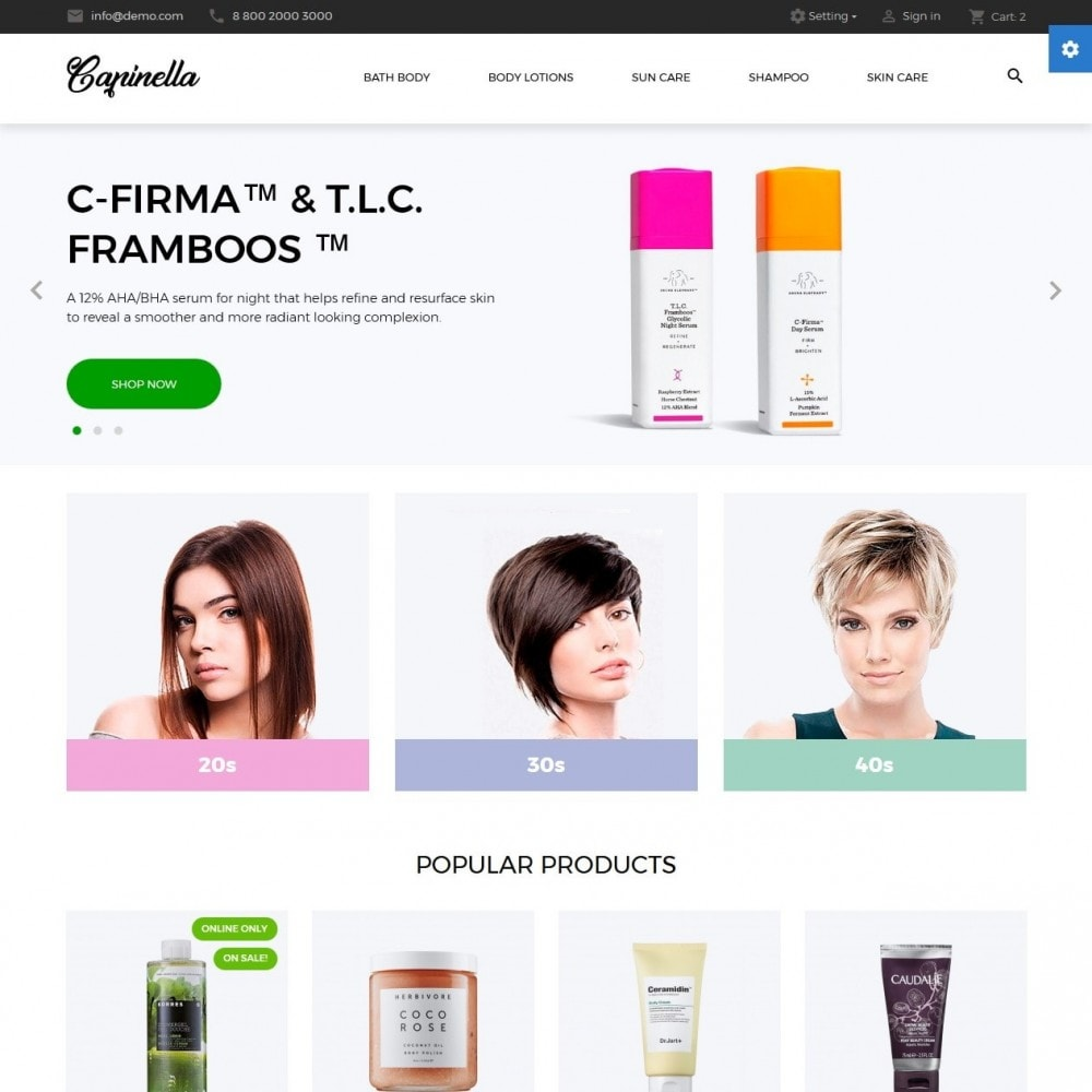 theme - Health & Beauty - Capinella Cosmetics - 2