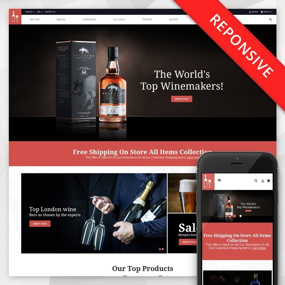 theme - Drink & Wine - Drink & Restaurant Store - 1