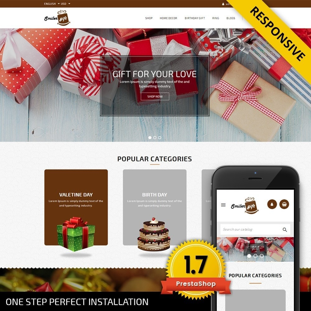 theme - Regali, Fiori & Feste - Smilergift - Gift Store - 1