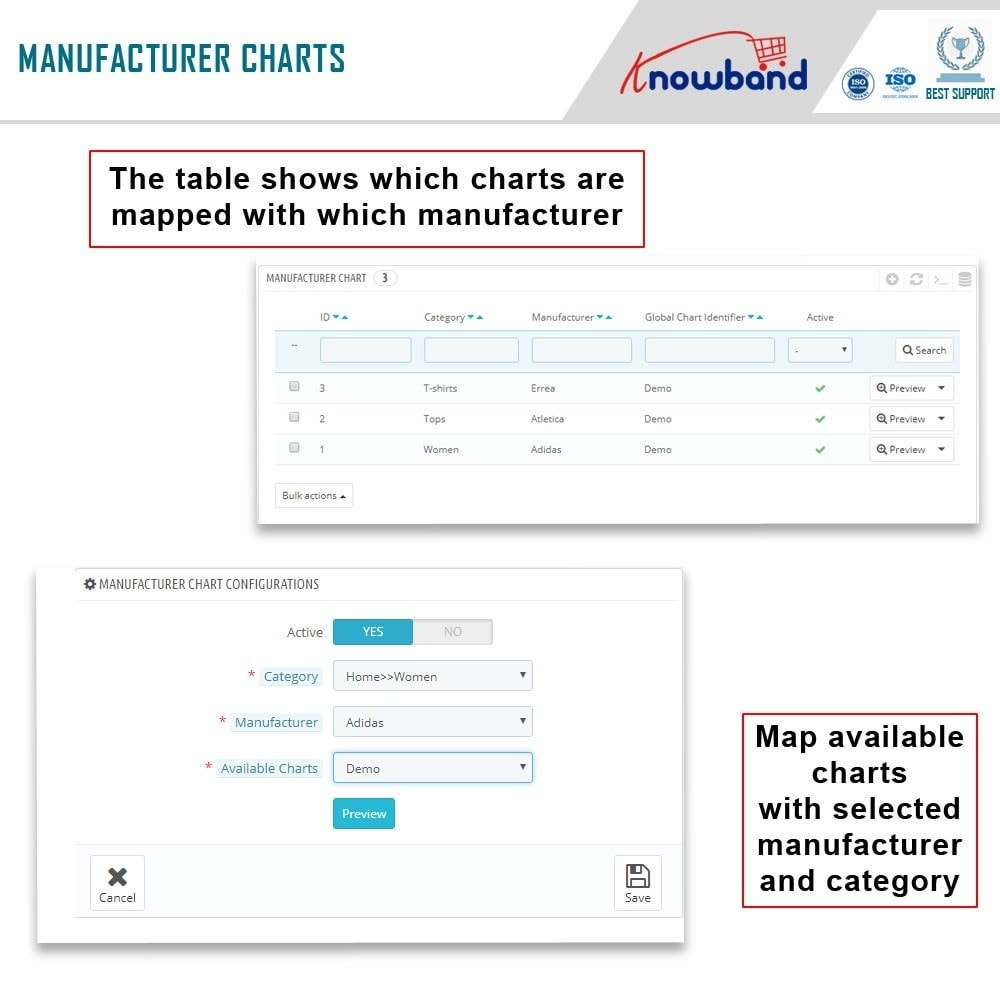 module - Altre informazioni & Product Tab - Knowband - Product size chart - 7