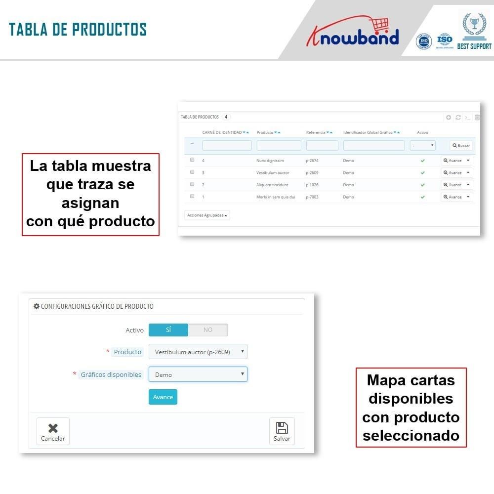 module - Informaciones adicionales y Pestañas - Knowband - Tabla de tallas del producto - 9