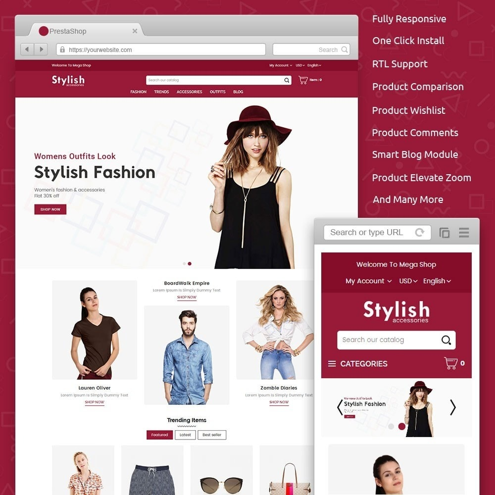 theme - Moda & Calçados - Stylish Fashion Store - 1