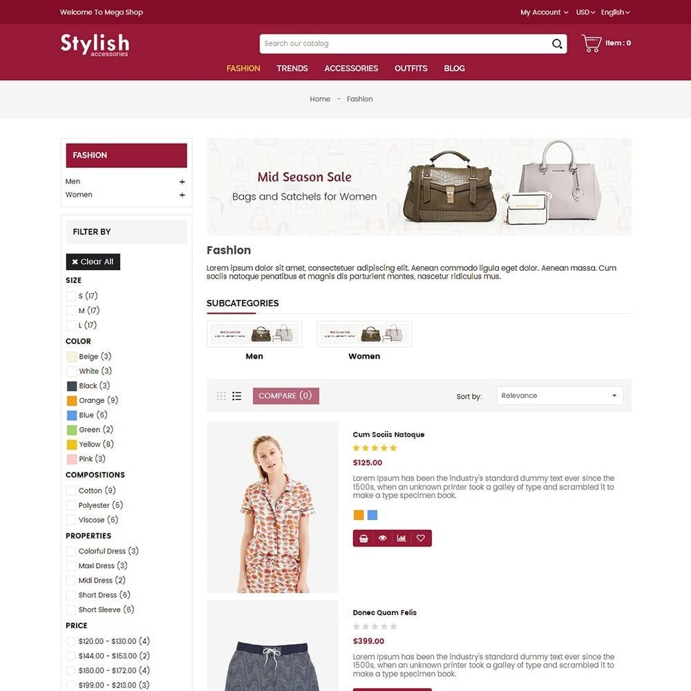 theme - Мода и обувь - Stylish Fashion Store - 4